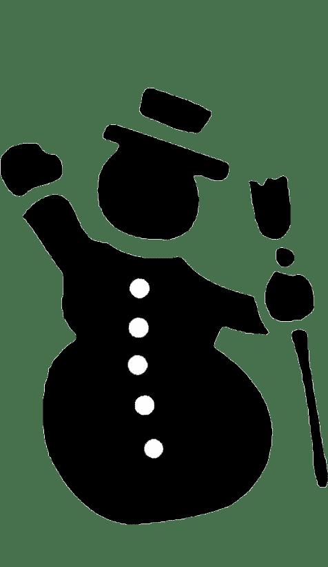 Трафарет и шаблон Новогодний