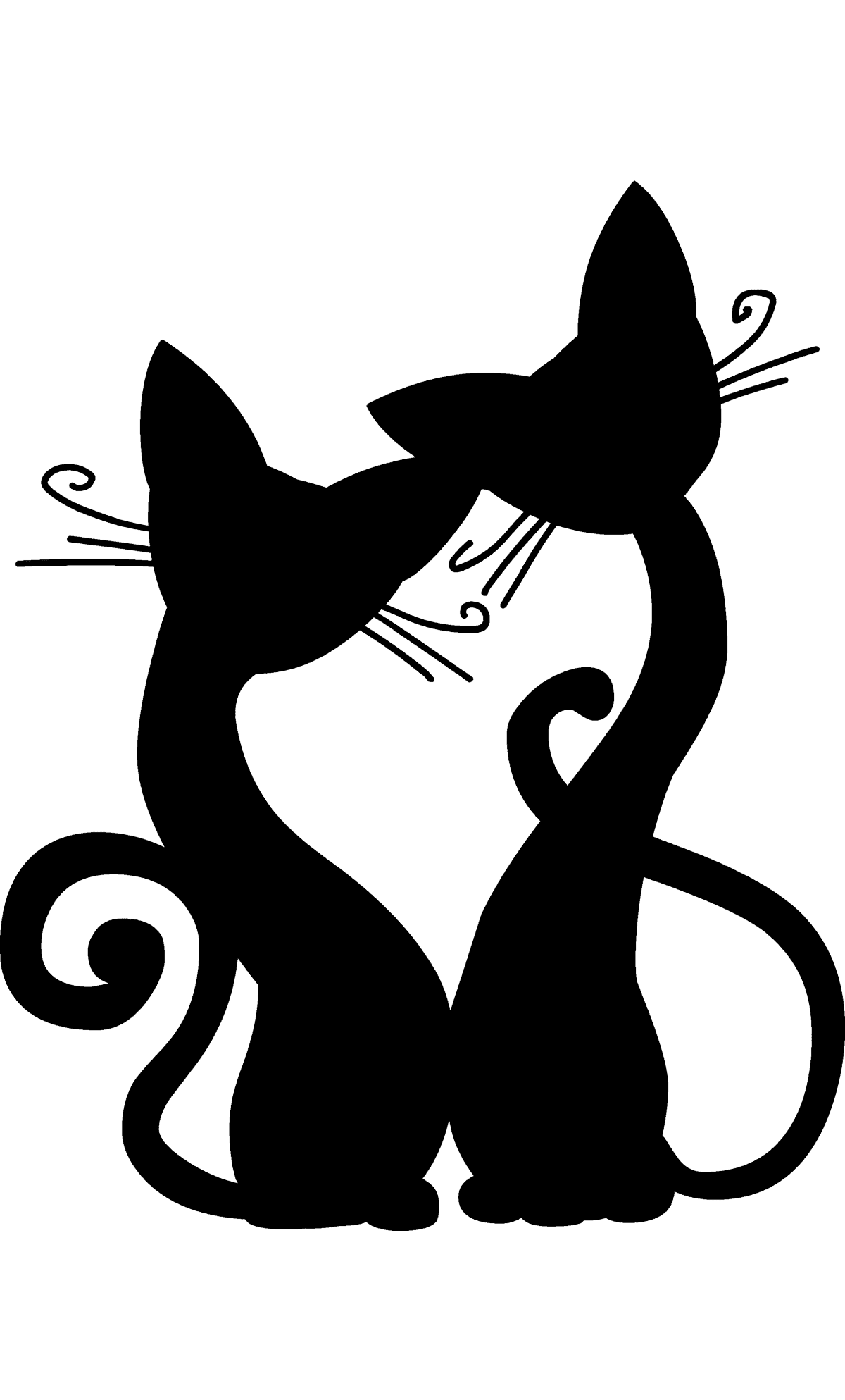 Трафарет и шаблон кошек