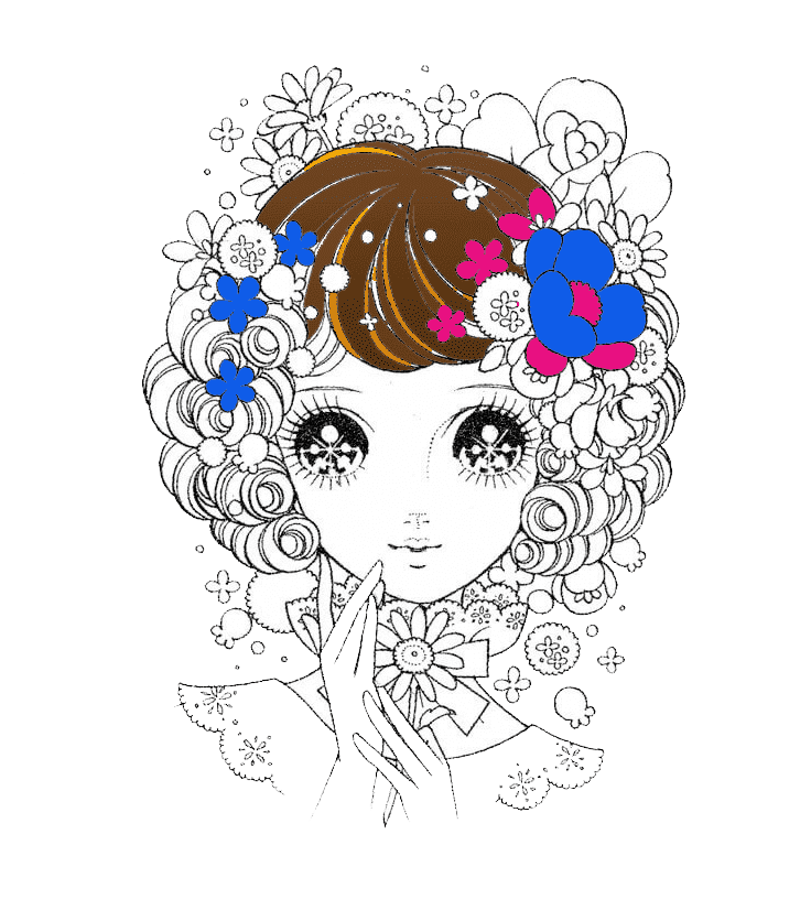 Раскраска антистресс аниме