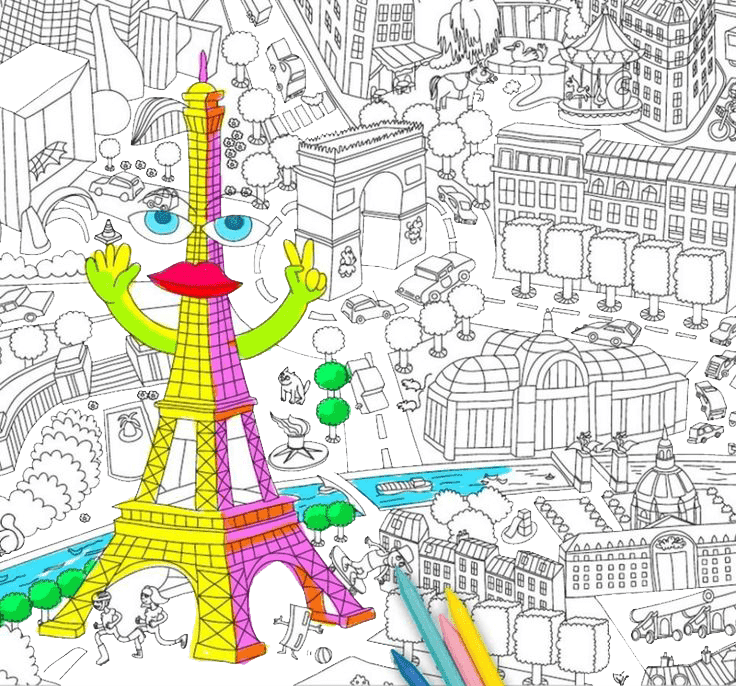 Раскраска антистресс город
