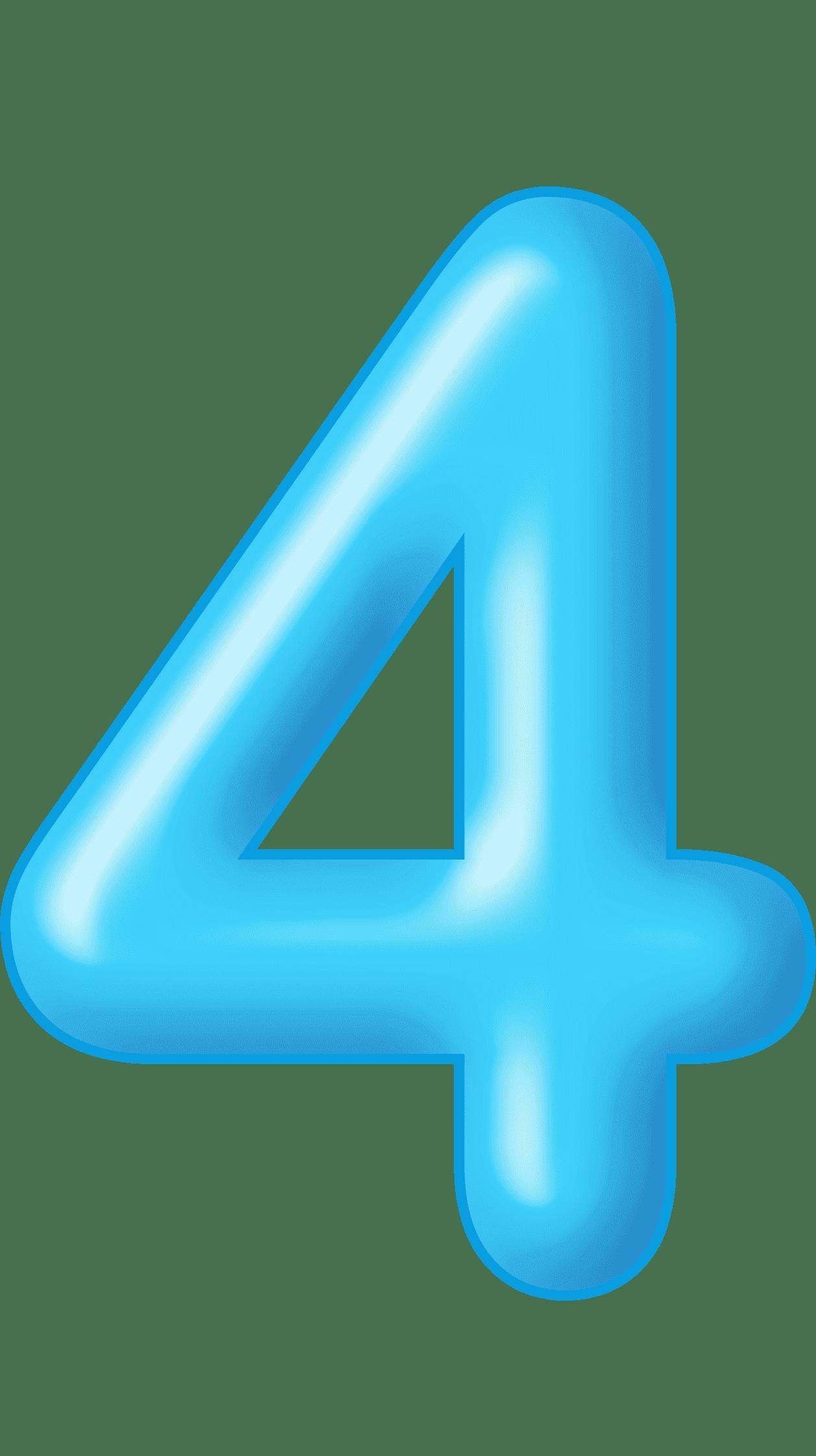 Раскраска цифра 4