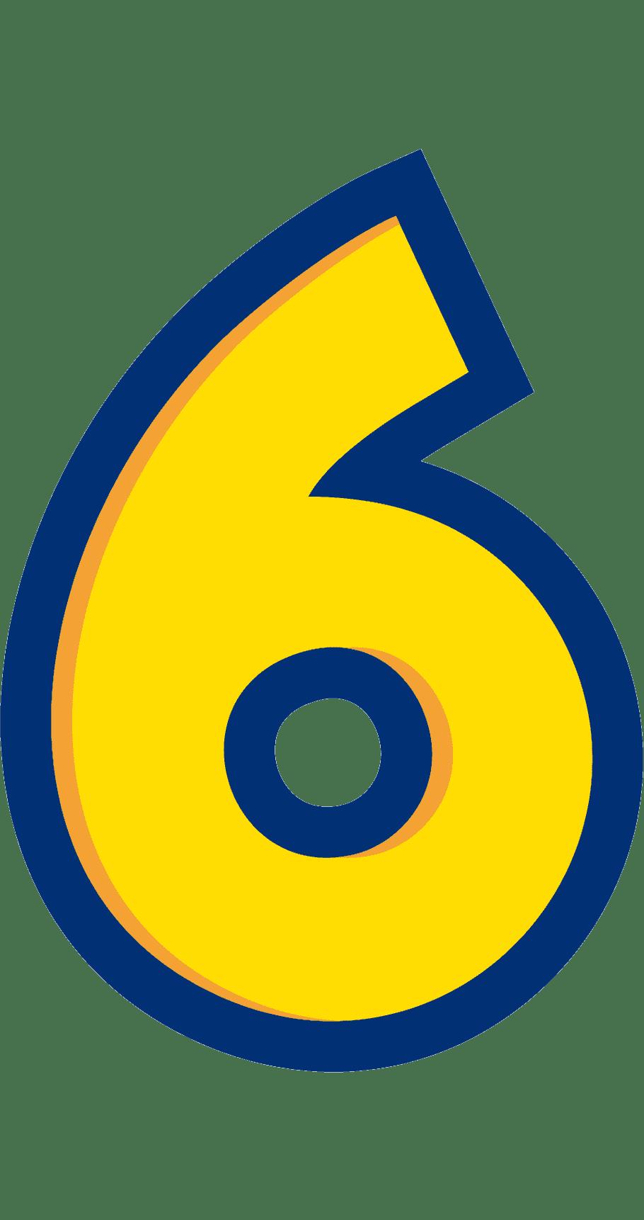 Раскраска цифра 6