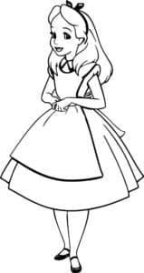 раскраска алиса