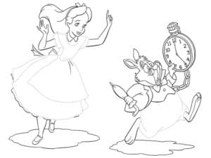 алиса и заяц картинка