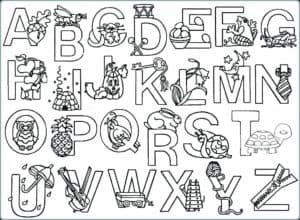 алфавит с красивыми картинками на английском