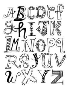 английские буквы с узорами