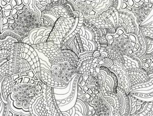 сложные цветы антистресс