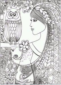 девушка и сова