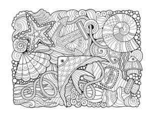 композиция море