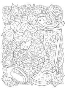 змея и птица