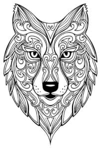 лицо волка