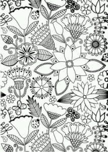 цветочки антистресс раскраски