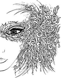 лицо девушки с узорами
