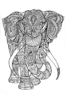 слон антистресс раскраски