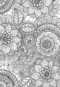 цветки расскраски антистресс
