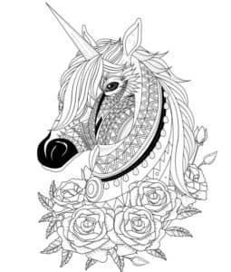 конь с рогом