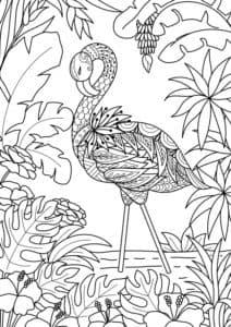 пальмы и фламинго