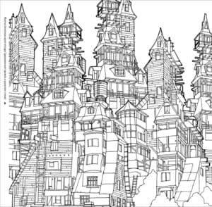 город и красивые дома