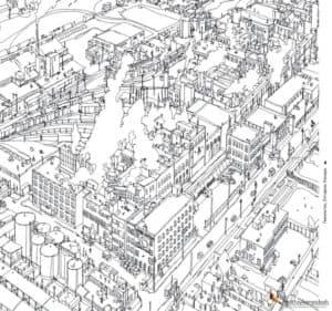 город вид сверху антистресс