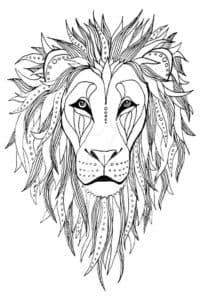 лев с гривой