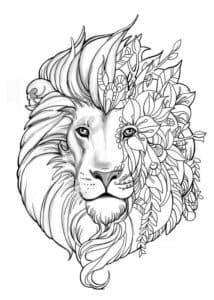 рисунок львиная голова