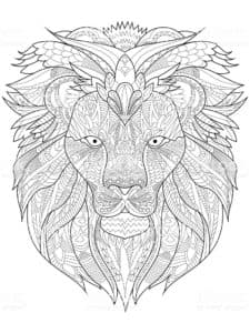 львиная морда картинка