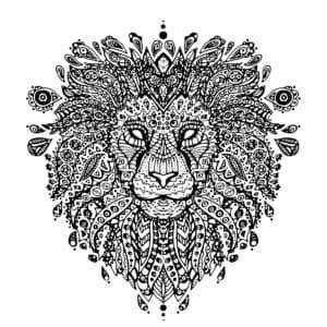 лев в узорах антистресс
