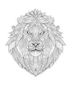 картинка голова льва
