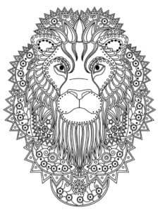 царь зверей раскраска
