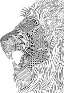 лев с зубами антистресс