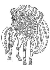 антистресс лошадь с узорами