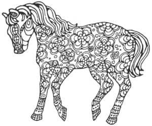 красивая лошадь раскраска