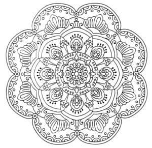 Мандалы раскраски для распечатки