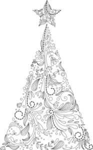 красивая елка и звезда