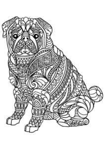 щенок раскраска антистресс
