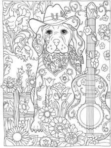 собака с гитарой