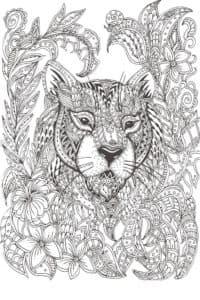 тигр в узорах