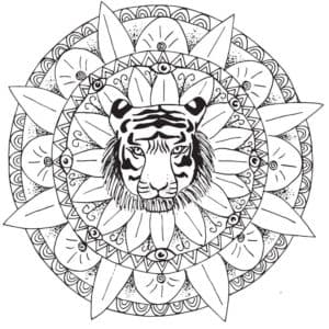 тигр в цветке