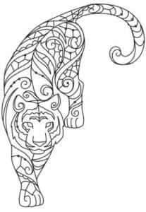 тигр антистресс картинка
