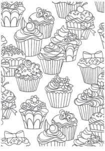 раскраска антистресс сладости