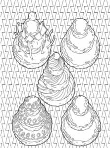 раскраска сладости