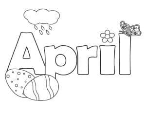 апрель и бабочка