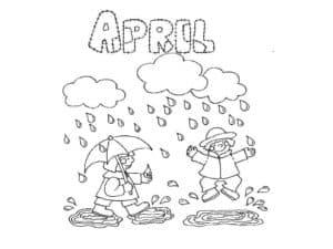 апрель дети под зонтом