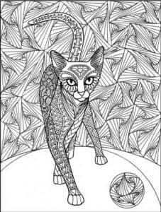 кошка и клубок