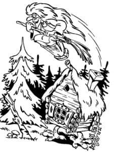 баба яга в лесу