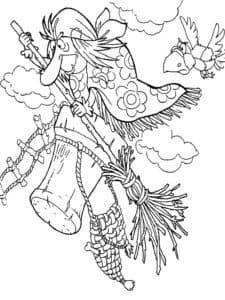 баба яга и ворона