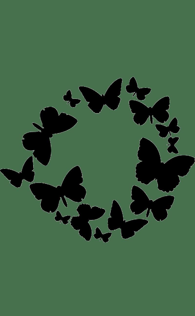 Трафарет и шаблон Бабочка