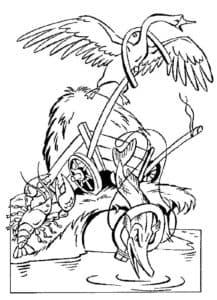 лебедь и щука с раком