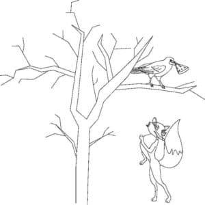лисичка и ворона с сыром