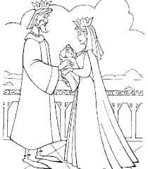 царь и царевна раскраска